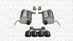 Corsa Sport Valve Back Exhaust W/ BLACK Tips- C7 Corvette